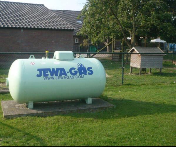 Propaan tank voor woningen in het buitengebied